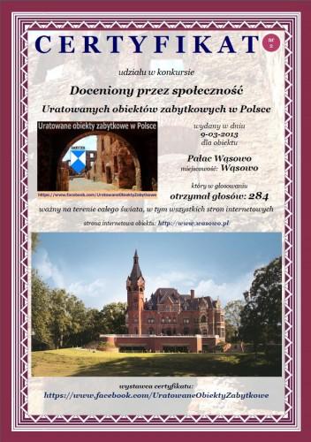 Pałac Wąsowo - http://www.wasowo.pl