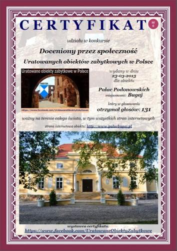 Pałac Podonowskich w Bugaju - http://www.palacbugaj.pl