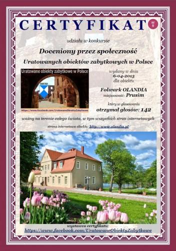 Folwark OLANDIA w Prusimiu - http://www.olandia.pl