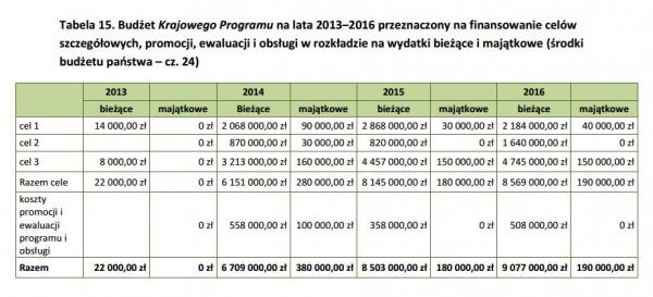budżet szczegółowy