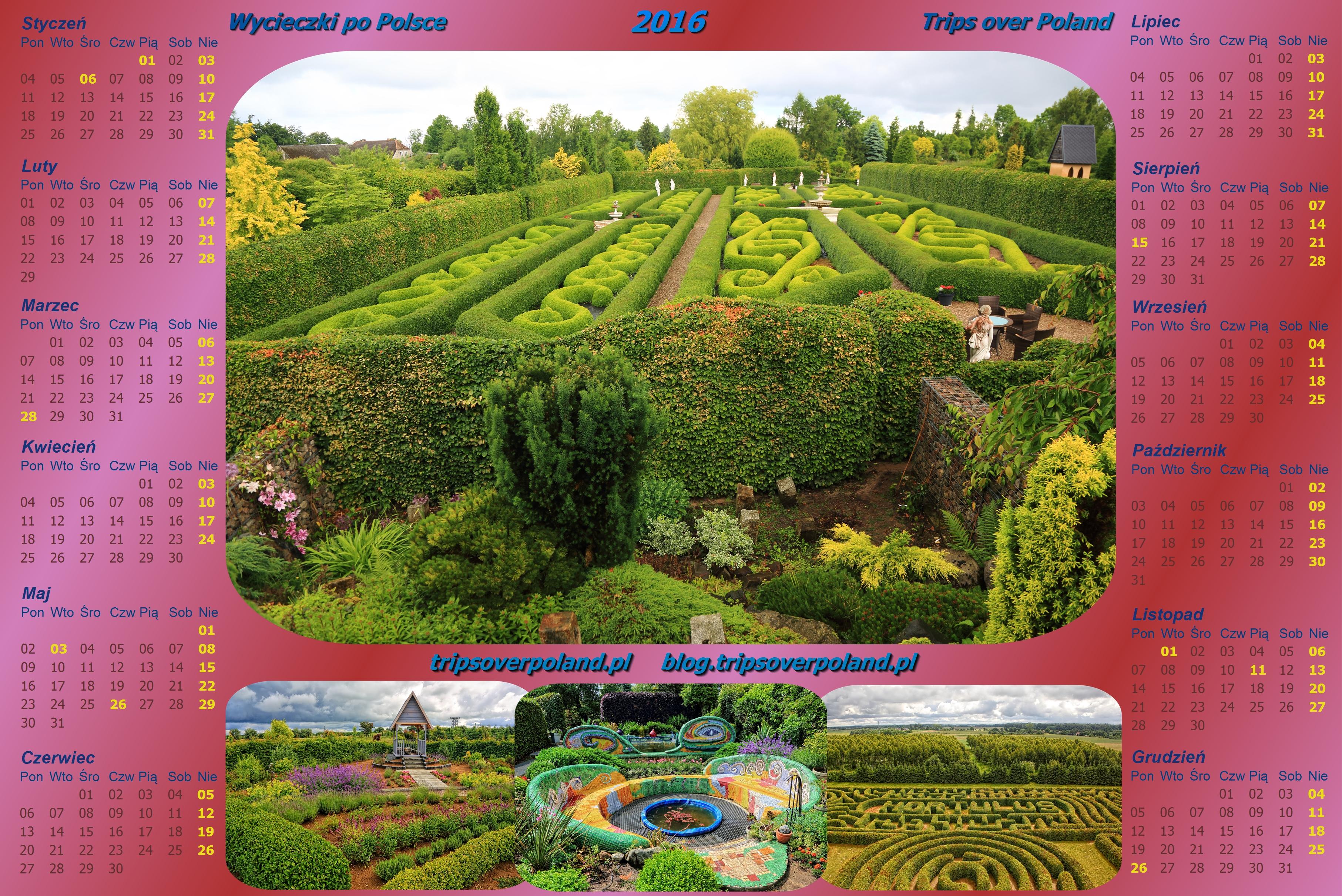 Kalendarz ze zdjęciami z Dobrzycy - Ogrody Hortulus