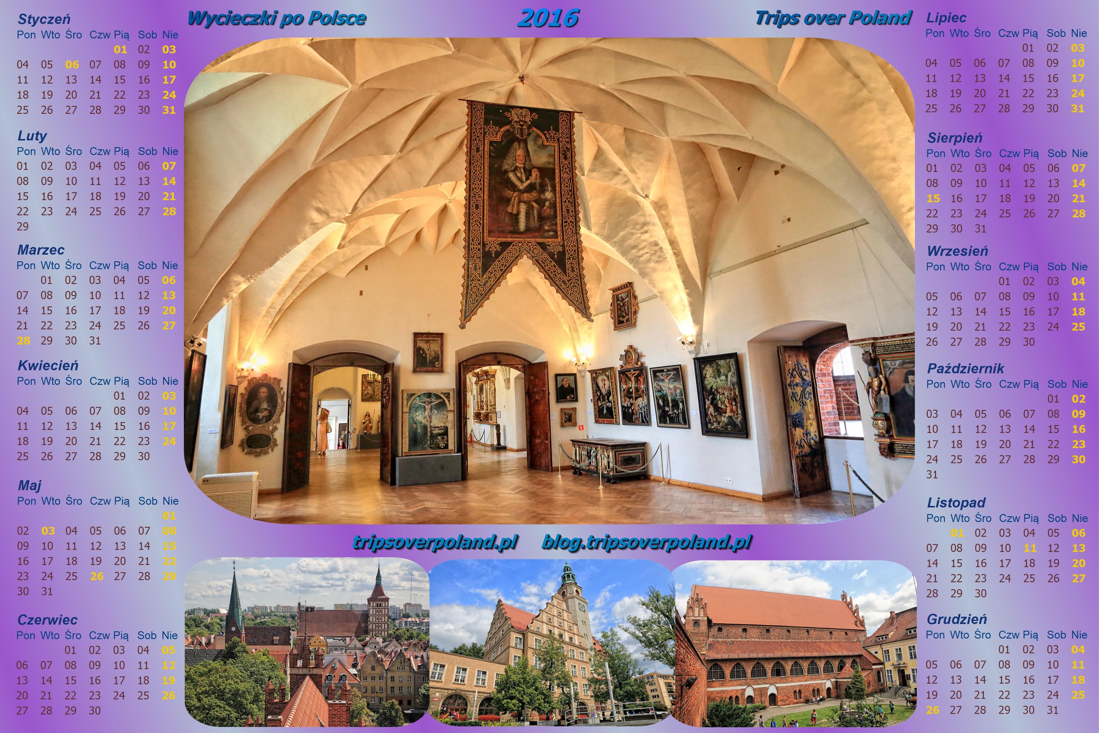 Kalendarz ze zdjęciami z Olsztyna
