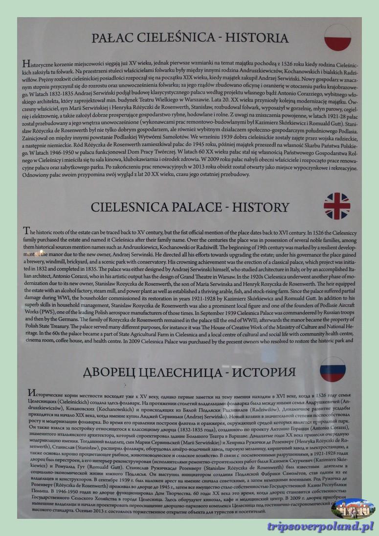 Cieleśnica - historia pałacu
