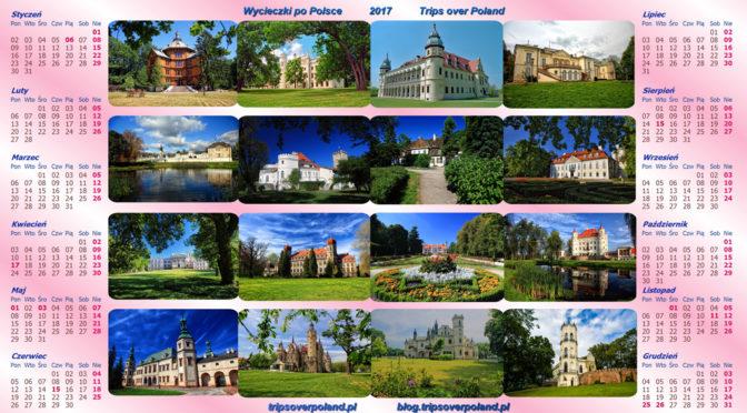 32 piękne miejsca w Polsce w 17 kalendarzach na rok 2017