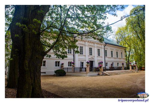 Pałac Mała Wieś'2017 od strony ogrodów